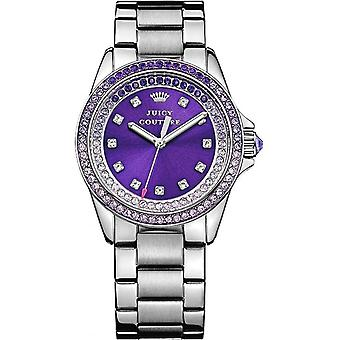 Juicy Couture 1901217 Ladies' Stella Stainless Watch With Stone Set Purple Dial