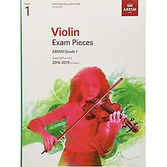 Violin eksamen stykker 2016-2019, ABRSM Grade 1, Score & del: Valgt fra 2016-2019 pensum (ABRSM eksamen stykker)
