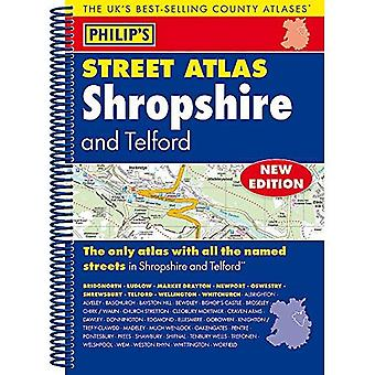 Philip's Street Atlas Shropshire and Telford - Philip's Street Atlas (Spiral bound)
