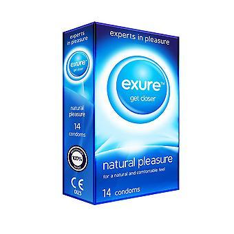 Pack of 14 Exure Natural Pleasure Plain Condoms