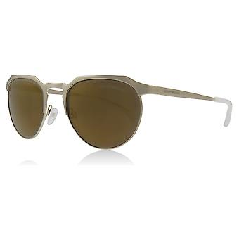 Emporio Armani EA2067 30137D Pale Gold EA2067 Round Sunglasses Lens Category 3 Lens Mirrored Size 54mm