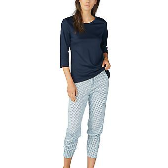 Mey Women 13954-408 Women's Sonja Night Blue Spotted Cotton Pyjama Set