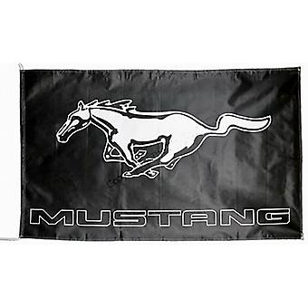 Large (Ford) Mustang flag (black) 1500mm x 740mm  (of)