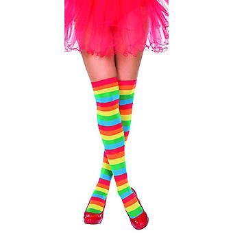 Arcobaleno di calze fantasia gambaletti Rainbow accessorio Carnevale unicorno unicorno