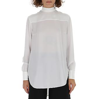 Thom Browne White Cotton Blouse