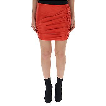 Versace Red Acetate Skirt