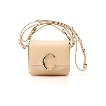 Chloé Nude Leather Shoulder Bag