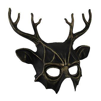 Finitura metallica Pagan cornuto Dio mezzo viso maschera Cernunnos