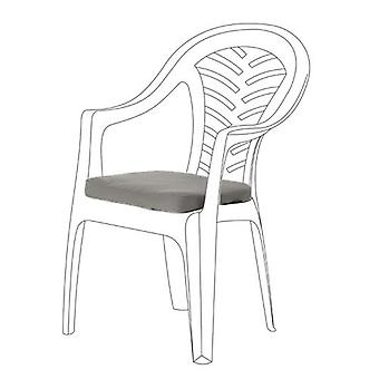 Graue Seat Cushions für Resol Palma Chair, Pack von 2