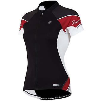 Pearl Izumi Black-Crimson Elite Womens Short Sleeved Cycling Jersey