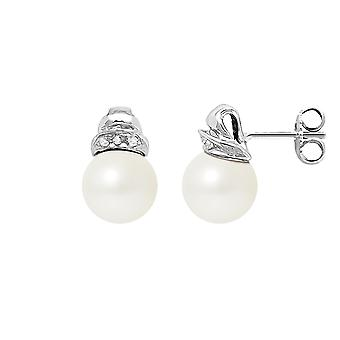 White Culture Pearl earrings, Diamonds and White Gold 750/1000