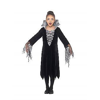 Vampire child costume Spider Web pattern Carnival Halloween witch spider vampire costume