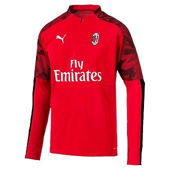 2019-2020 AC Milan Puma kwartaal zip training top (rood)-Kids