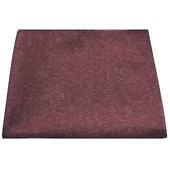 Luxury Burgundy Donegal Tweed Pocket Square, Handkerchief