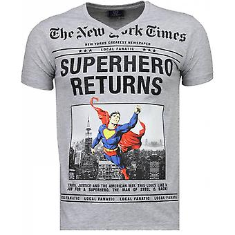 SuperHero Returns-T-shirt-Grey