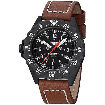 KHS Shooter MKII with leather strap buffalo leather brown - KHS. SH2OT. LB5