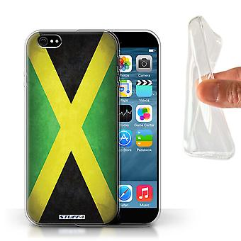 STUFF4 Gel TPU Case/Cover for Apple iPhone 6/Jamaica/Jamaican/Flags