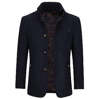 Allthemen Men's Warm Coat Stand Colletto cappotto solido cappotto