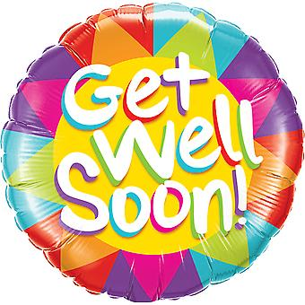 Foil balloon get well soon health about 45 cm