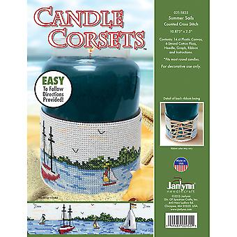 Candle Corsets Summer Sails Plastic Canvas Kit-10.875