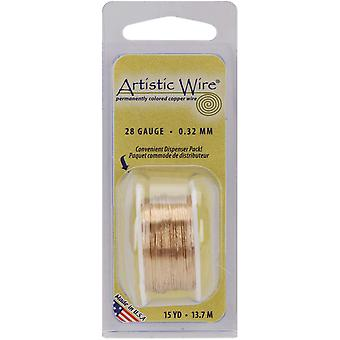 Colored Wire 28 Gauge 15 Yards Pkg Natural Non Tarnish Brass 28Awg Ntb