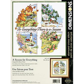A Season For Everything Stamped Cross Stitch Kit 14