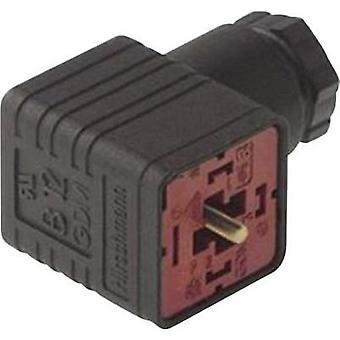 Hirschmann 932 109-100 GDM 3011 J Right-angle Connector Black Number of pins:3 + PE