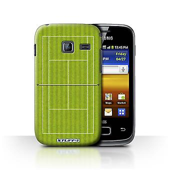 STUFF4 Case/Cover for Samsung Galaxy Y Duos/S6102/Green Grass Court/Tennis Courts