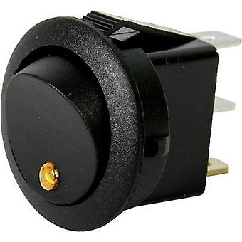 Car toggle switch 12 V 10 A 1 x Off/On latch HP Autozubehör Wippschalter Mini Leuchte Gelb 1 pc(s)