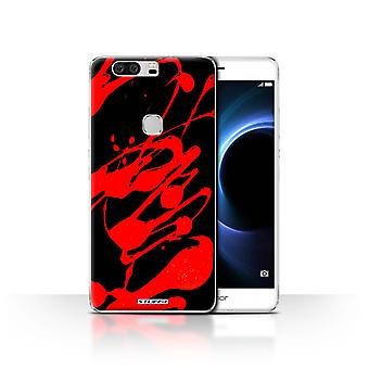 STUFF4 Case/Cover for Huawei Honor V8/Red/Paint Splatter
