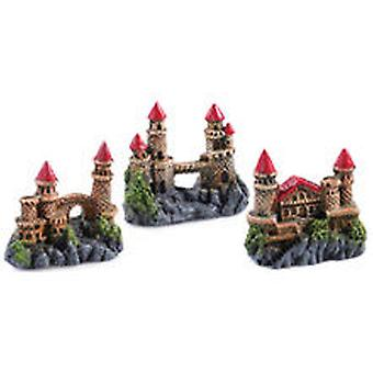 Classic For Pets Mini Castles Assort  6pcs (Fish , Decoration , Ornaments)