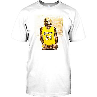 Marilyn Monroe avec tatouages - Basketball Lakers inspiré Mens T Shirt