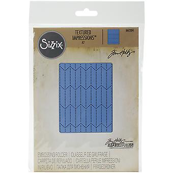 Sizzix Texture Fades A2 Embossing Folder-Tailored By Tim Holtz 661204