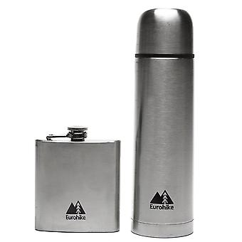 Eurohike 0.5L Flask And Hip Flask