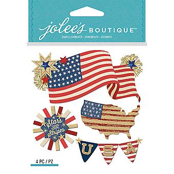 Jolee's Boutique Dimensional Stickers-American Flag E5021966