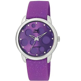 Q & Q ladies watch VENEZIA analog quartz silicone GS51J332Y violet