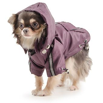 Small Bite Waterproof Jacket With Hood Damson Extra Extra Small