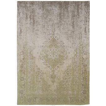 Distressed Pear Cream Medallion Flatweave Rug  80 x 150 - Louis de Poortere