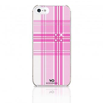 White DIAMONDS Shell iPhone 5/5s/SEE Knox Pink