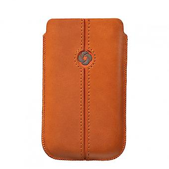 SAMSONITE DEZIR Mobile bag leather Orange to tex S2