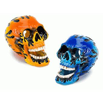 Sandimas Mini Flame Skull (3,75X6,25X5Cm (Fish , Decoration , Ornaments)