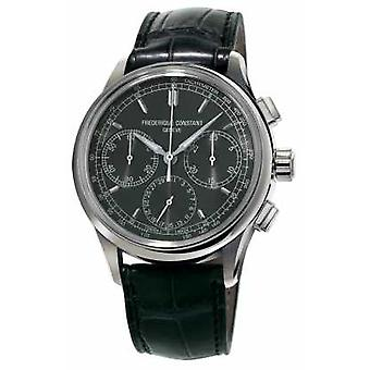 Frederique Constant Flyback Chronograph Manufacture Black Alligator Strap FC-760DG4H6 Watch