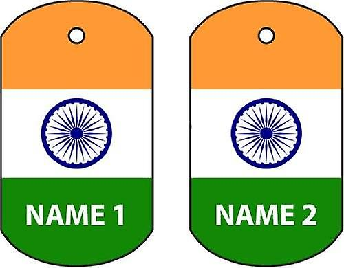 Gepersonaliseerde India Dog Tag auto luchtverfrisser