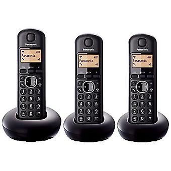 Panasonic KXTGB213EB Digital Three Handset Black Cordless Phone with LCD Display