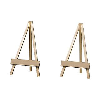 Large Set of 2 Wooden Easel 30cm high - Wedding Event Decoration