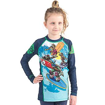 Fusion Fight Gear Kid's TMNT Sewer Surfin' Long Sleeve Rashguard