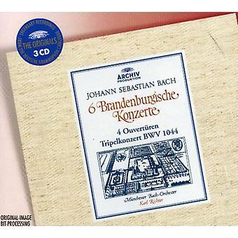 J.S. Bach - Johann Sebastian Bach: 6 Brandenburgische Konzerte; 4 Ouvert Ren; Tripelkonzerte, Bwv 1044 [CD] USA import