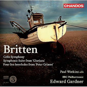 B. Britten - Britten: Cello Symphony; Symphonic Suite From Gloriana; Four Sea Interludes From Peter Grimes [CD] USA import