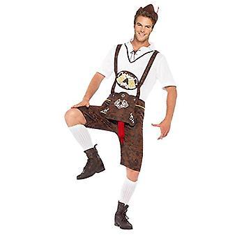 Brad korv lederhosen Oktoberfest skämt kostym män