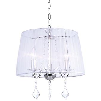 Wellindal 3Xe14 pendant white screen Horganza Lumiere